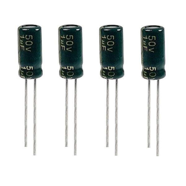 خازن الکترولیت 1میکروفاراد 50 ولت مدل TEC-150 بسته 4 عددی