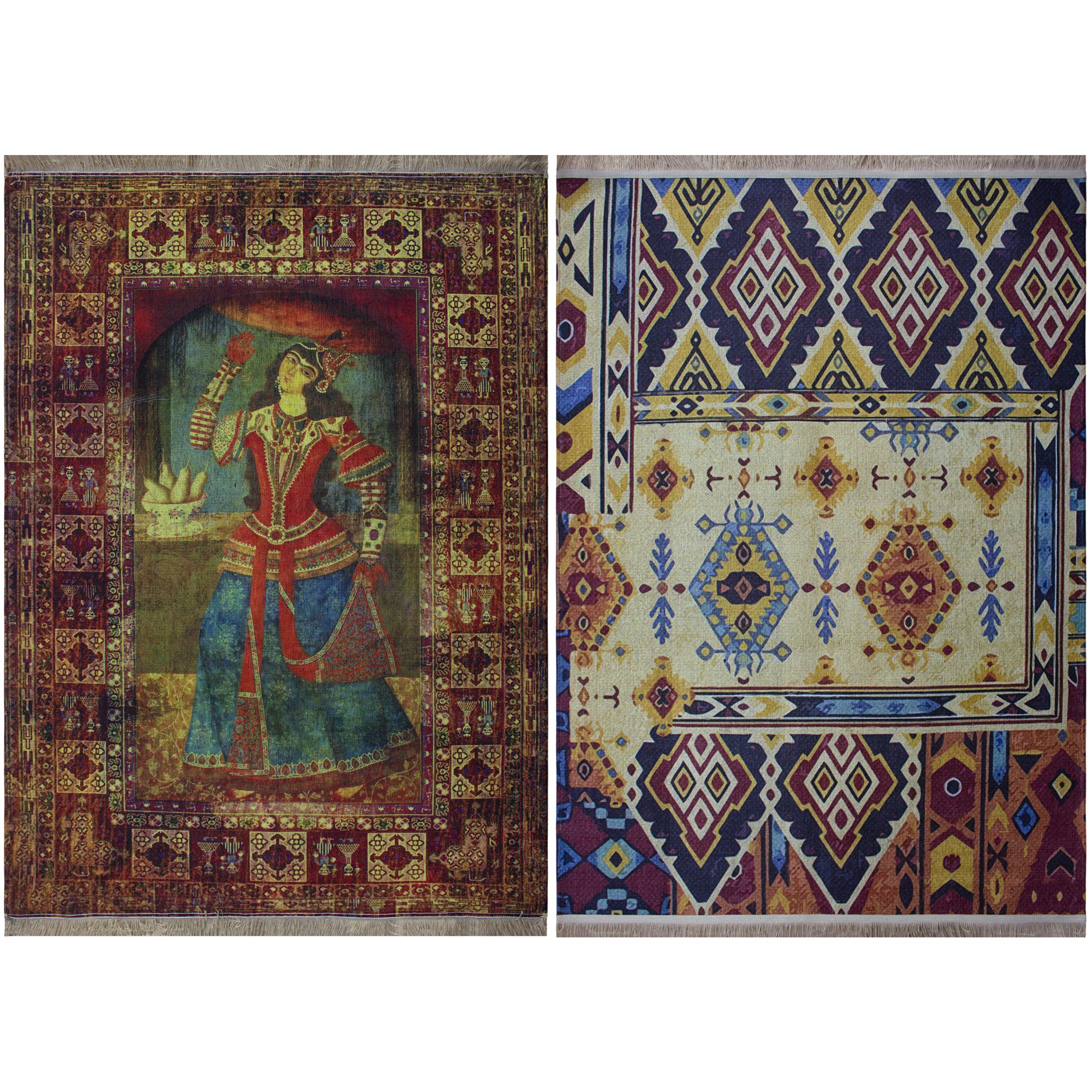 فرش ماشینی دو رو نیروانا مدل Shahrzad