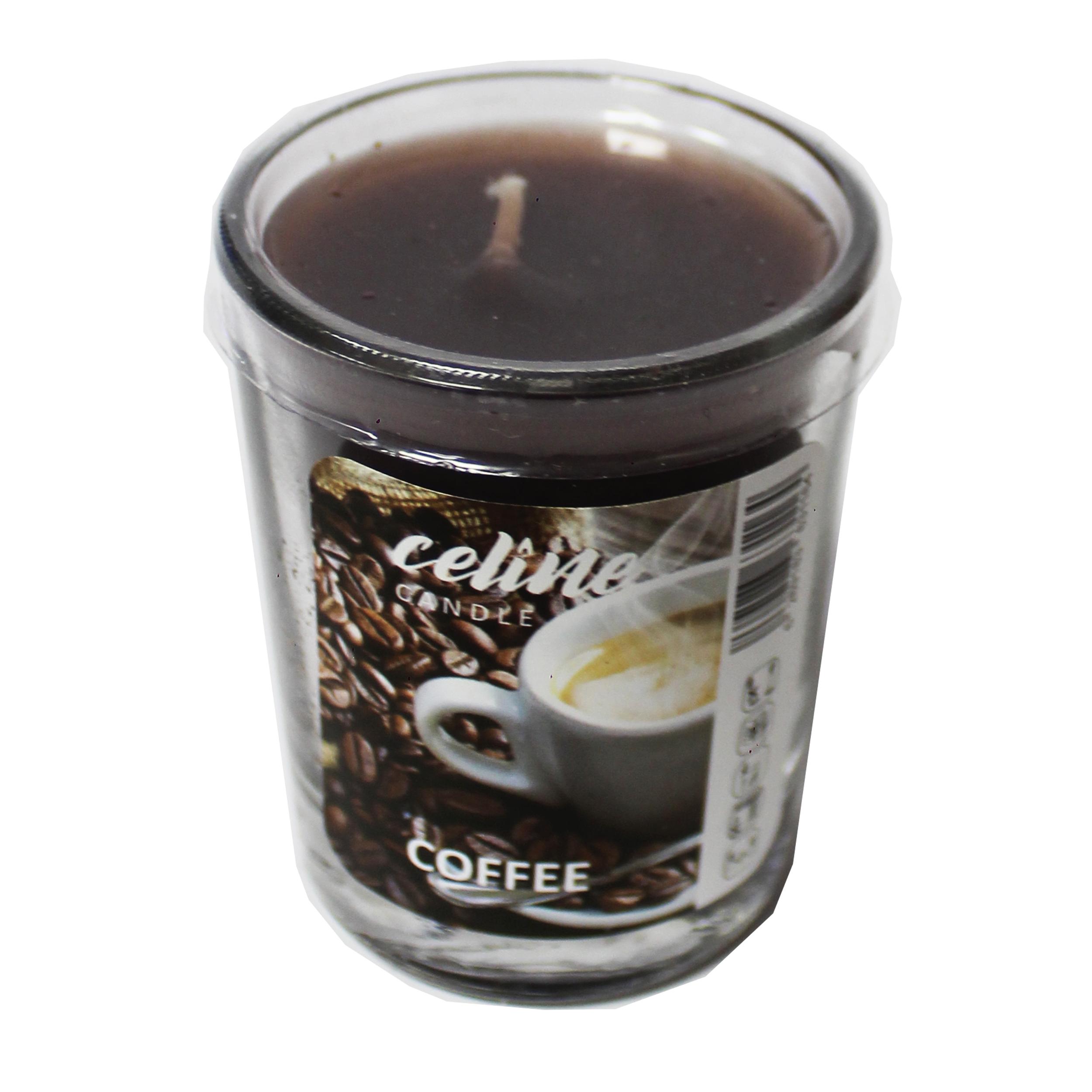 شمع لیوانی سلین مدل COFFEE