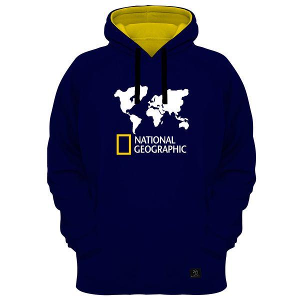هودی مردانه 27 مدل National Geographic کد MR01 رنگ سرمه ای