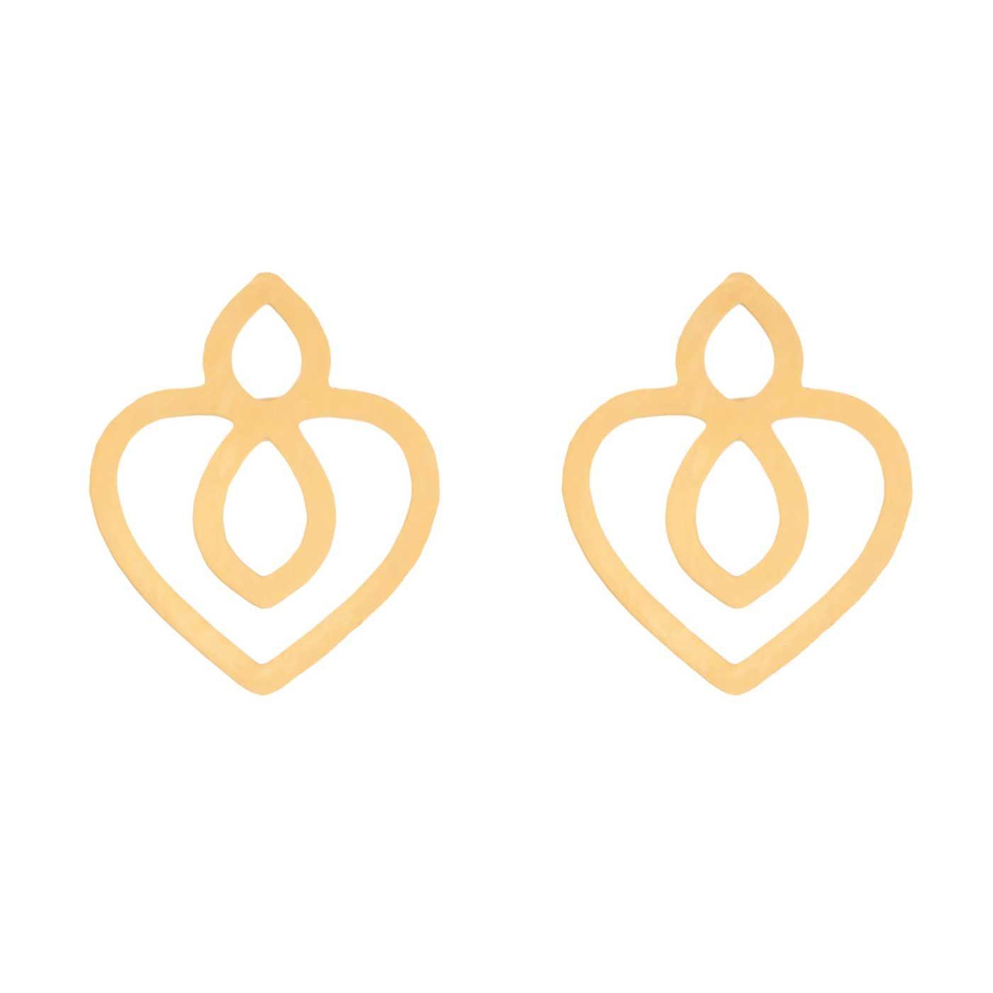 گوشواره طلا 18 عیار زنانه کانیار گالری کد GOA97 -  - 3