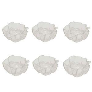 پیاله شیشه و بلور اصفهان مدل طرح برگ 613 بسته 6 عددی