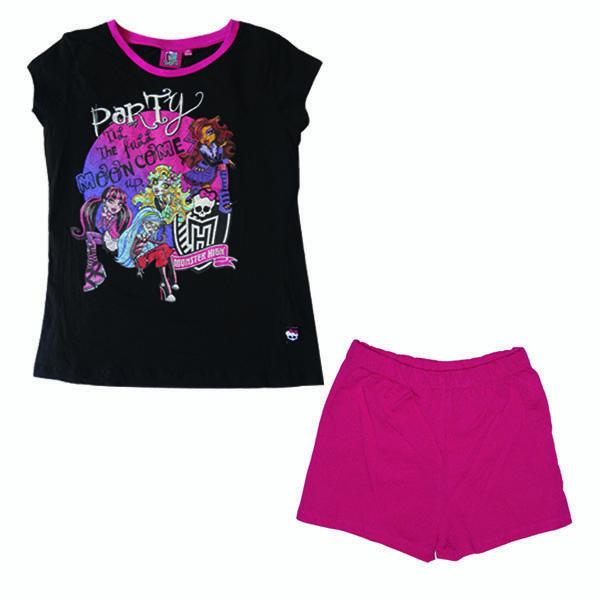 ست تی شرت و شلوارک دخترانه مانستر های مدل TSHMH