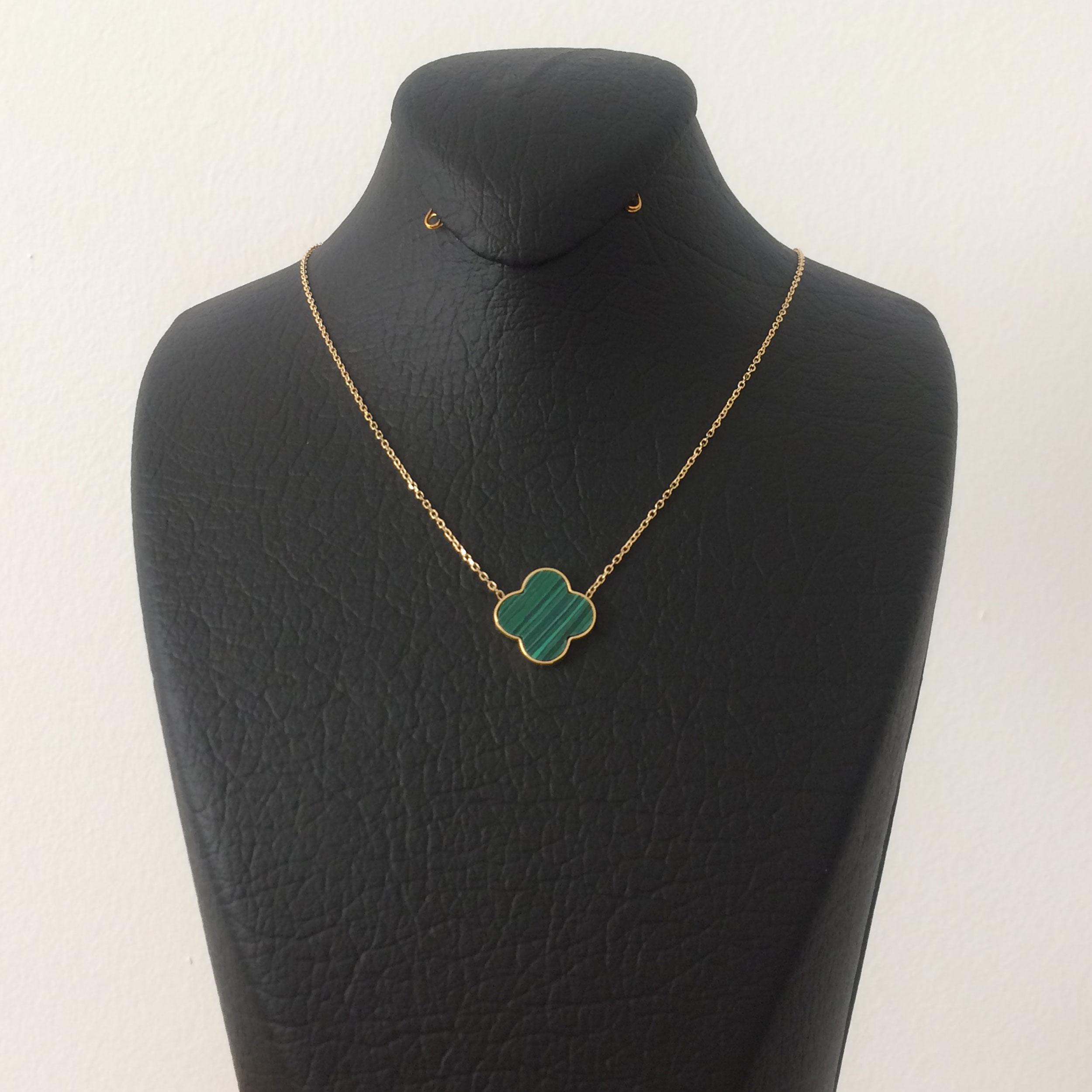 گردنبند طلا 18 عیار زنانه الماسین آذر مدل V02