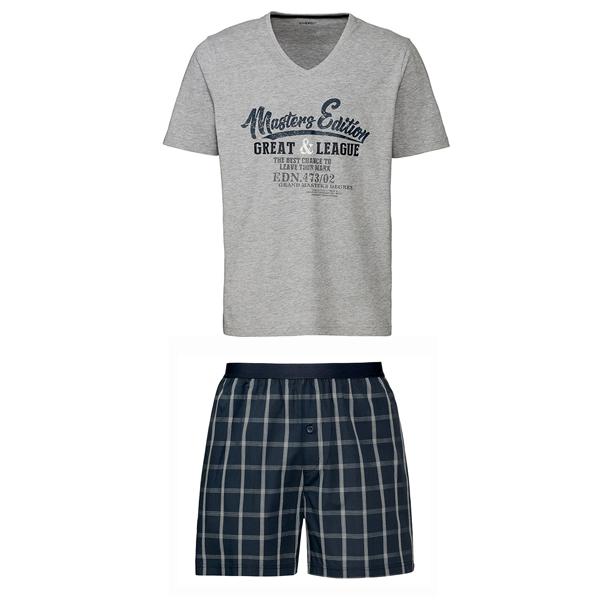 ست تی شرت و شلوارک مردانه لیورجی مدل 4140649
