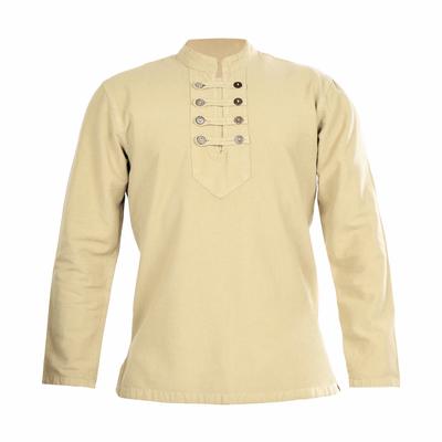 پیراهن آستین بلند مردانه کد p.8.k رنگ کرم