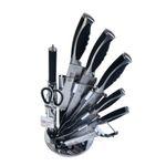 سرویس چاقو آشپزخانه 9 پارچه ام جی اس مدل KS9015B thumb