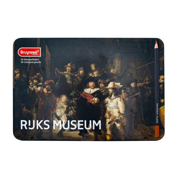 مداد رنگی 50 رنگ برونزیل مدل نیمه حرفه ای طرح RUKS MUSEUM