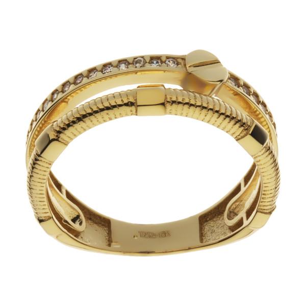 انگشتر طلا 18 عیار زنانه مایا ماهک مدل MR0589