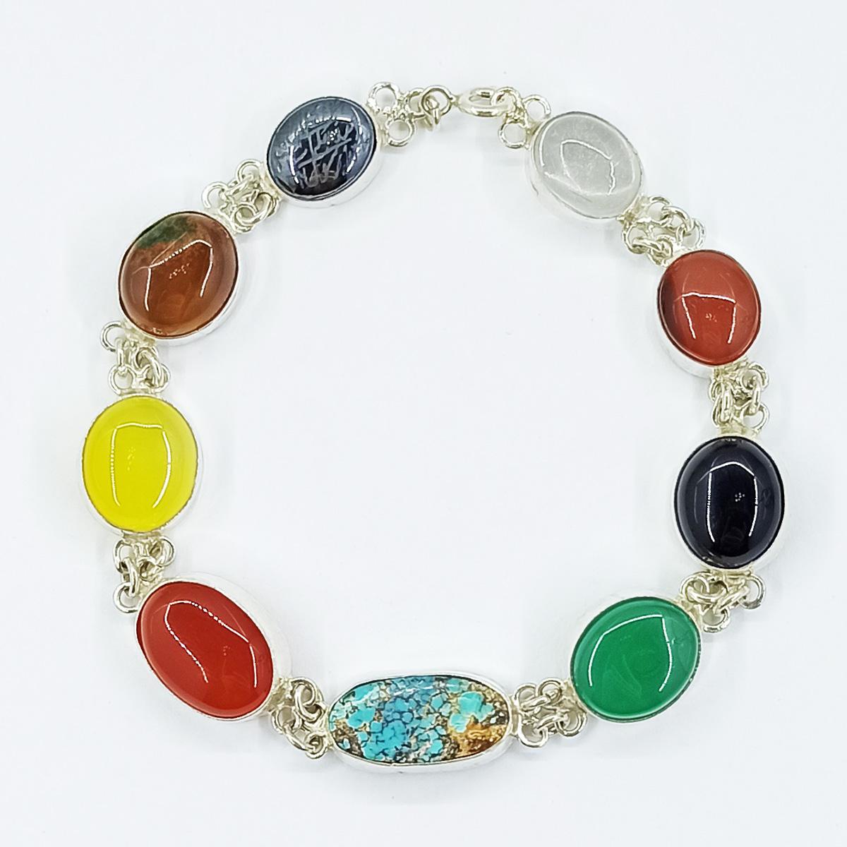 دستبند نقره زنانه سلین کالا مدل جواهری ce-As117