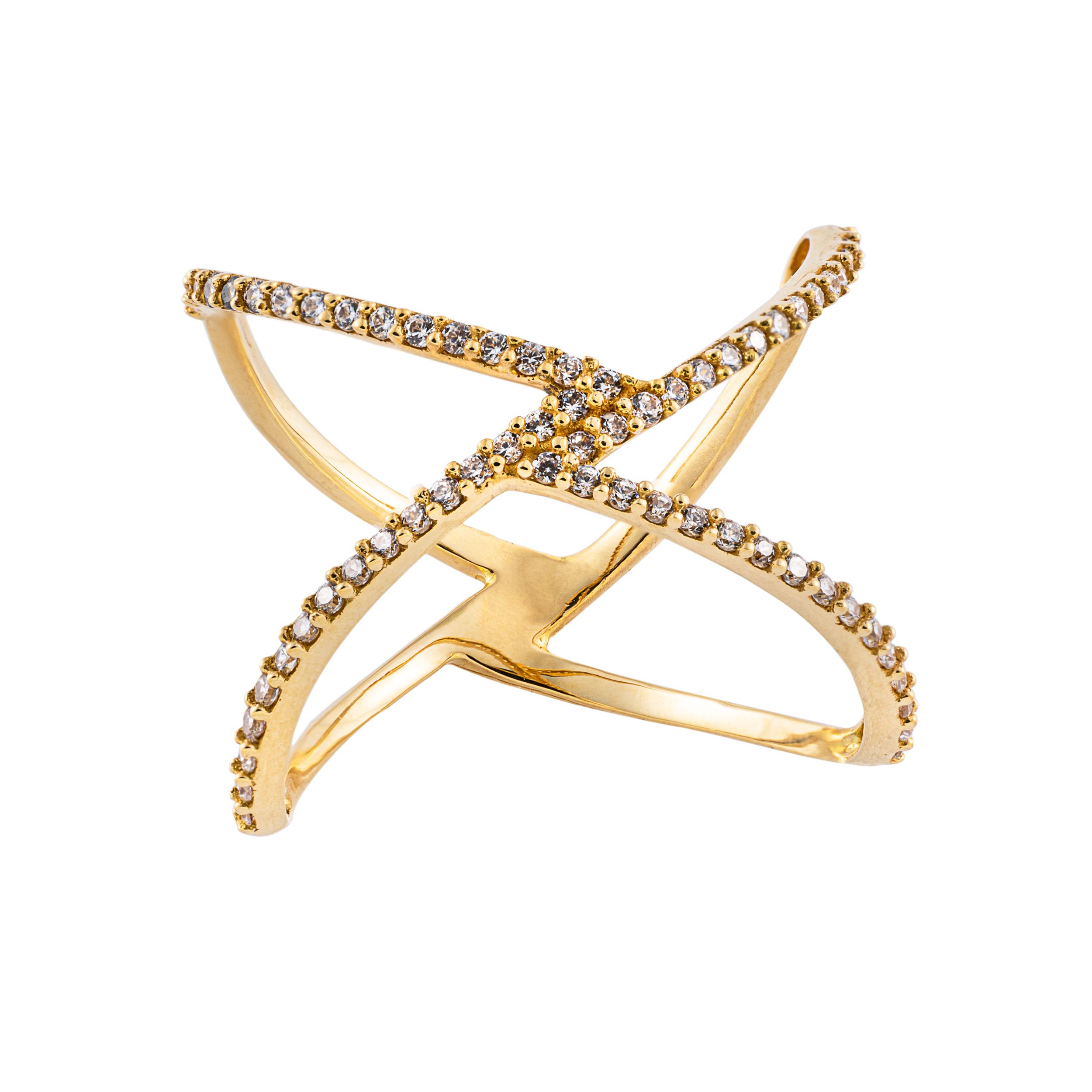انگشتر طلا 18 عیار زنانه جواهری سون مدل 2722