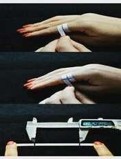 انگشتر نقره زنانه کد R143TrGo -  - 3