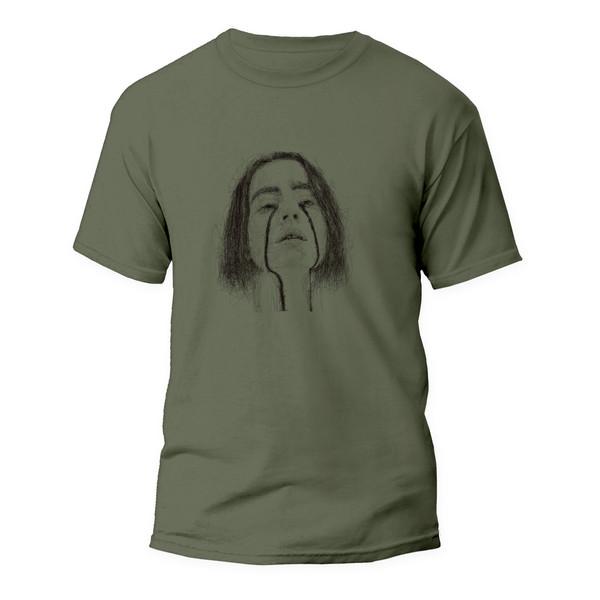 تیشرت آستین کوتاه مردانه مدل بیلی آیلیش کد ART-0268-G رنگ سبز