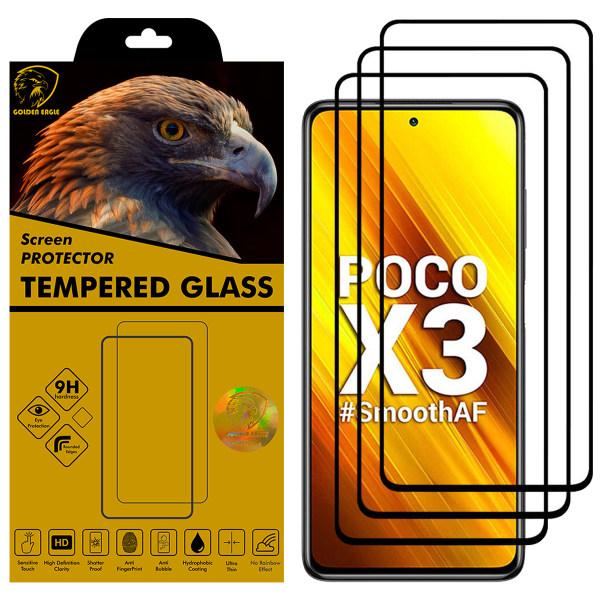 محافظ صفحه نمایش گلدن ایگل مدل DFC-X3 مناسب برای گوشی موبایل شیائومی Poco X3 بسته سه عددی