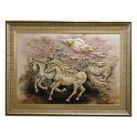 تابلو نقاشی برجستهطرح اسب های وحشی کد NP-001