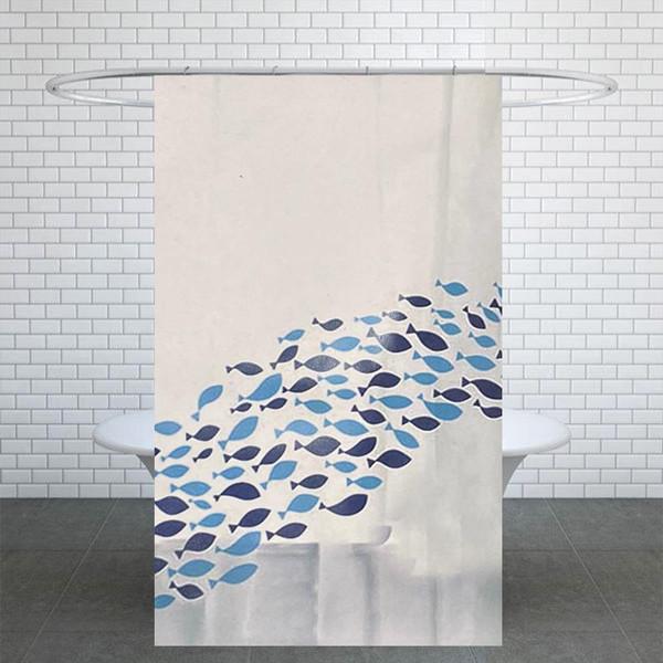 پرده حمام کد G161 سایز 180x180 سانتی متر