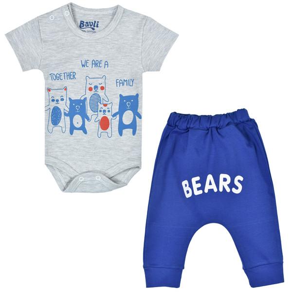 ست بادی و شلوار نوزادی باولی مدل خرس