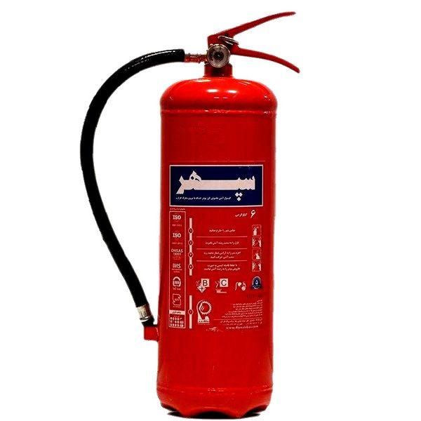 کپسول آتش نشانی پودر و گاز سپهر کد P215 وزن 6 کیلوگرم