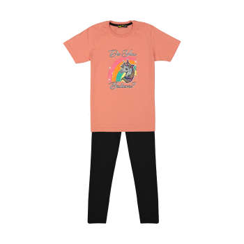ست تی شرت و شلوار دخترانه خرس کوچولو مدل 2011183-84