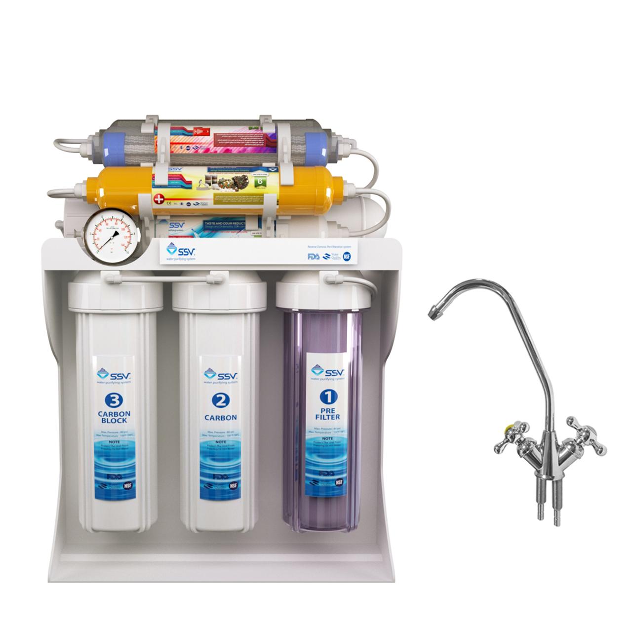 دستگاه تصفیه آب اس اس وی مدل MaxPro 2W X1000به همراه شیر دوکاره