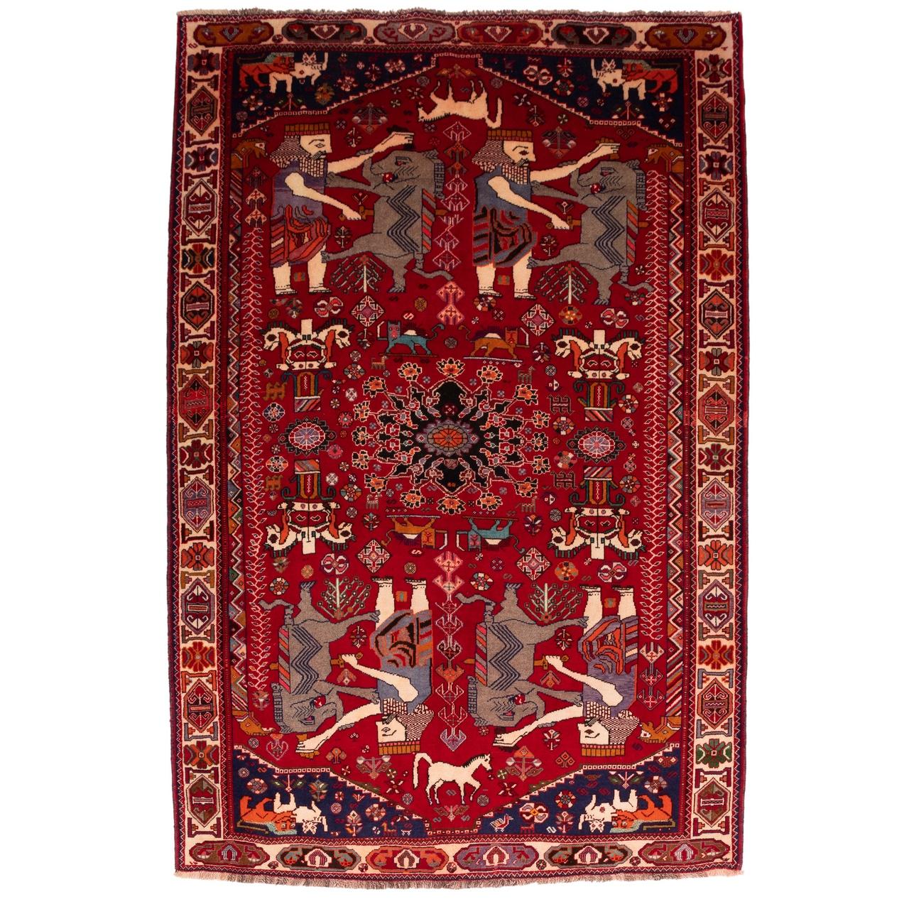 فرش دستباف قدیمی پنج و نیم متری سی پرشیا کد 179123