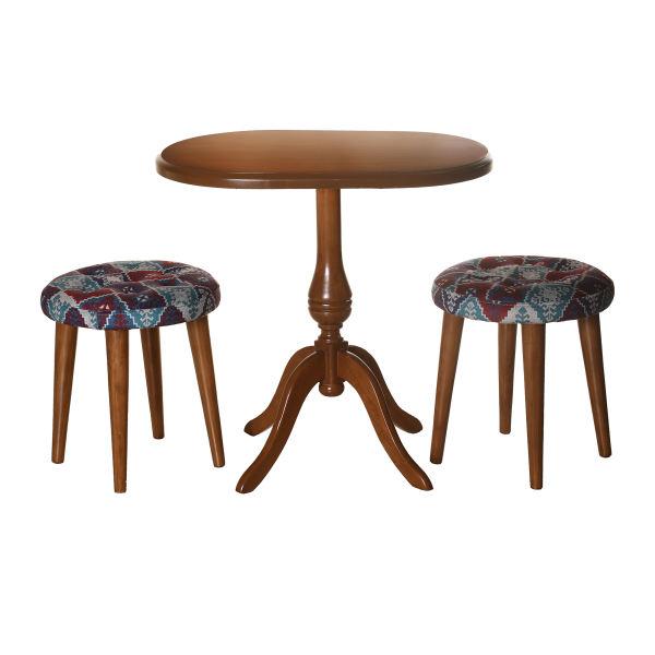 میز و صندلی ناهارخوری دو نفره کد 1-TN100/2-BR
