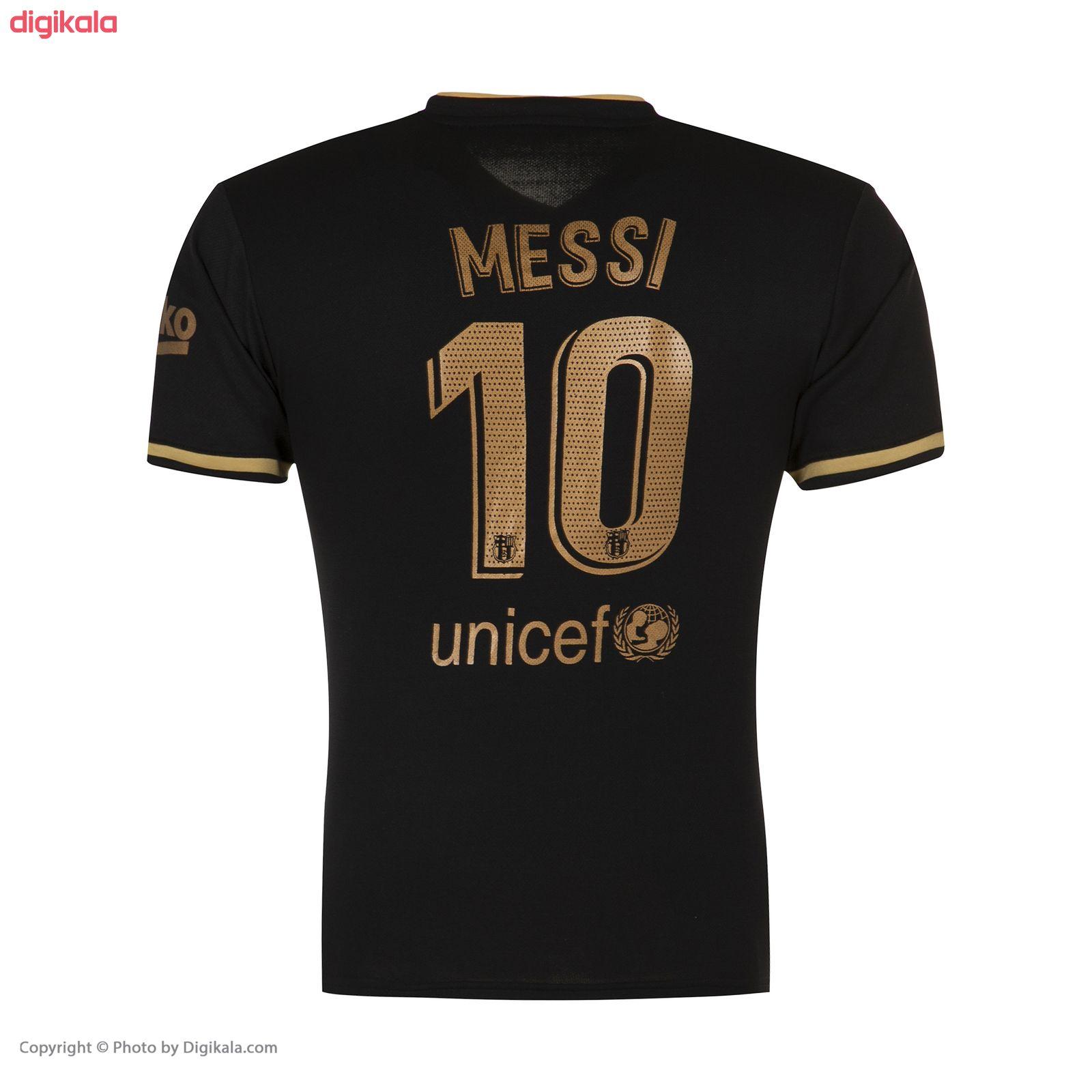 ست پیراهن و شورت ورزشی پسرانه طرح تیم بارسلونا دوم مدل مسی 2021 main 1 2
