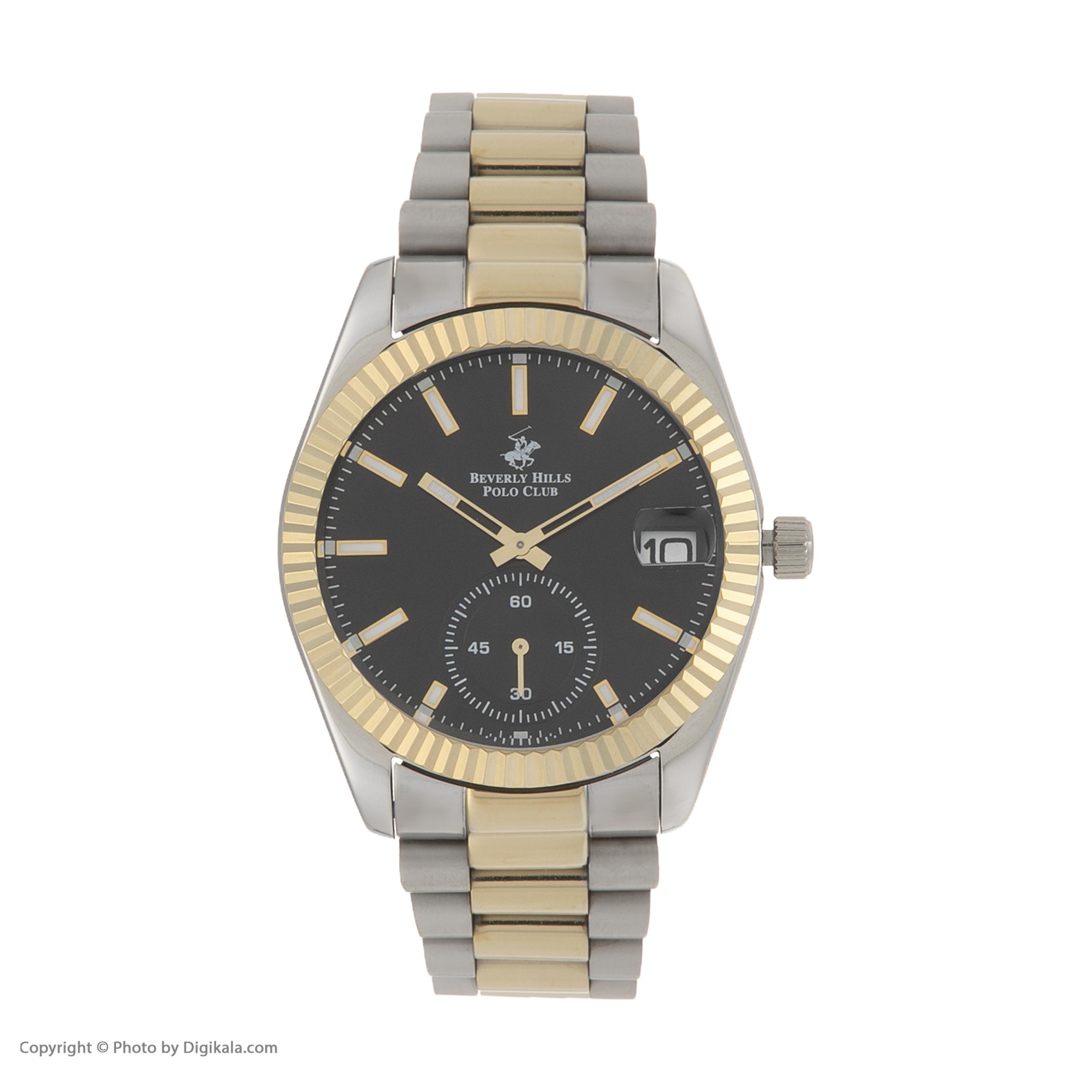ساعت مچی عقربهای مردانه بورلی هیلز پولو کلاب مدل BP3056X.250