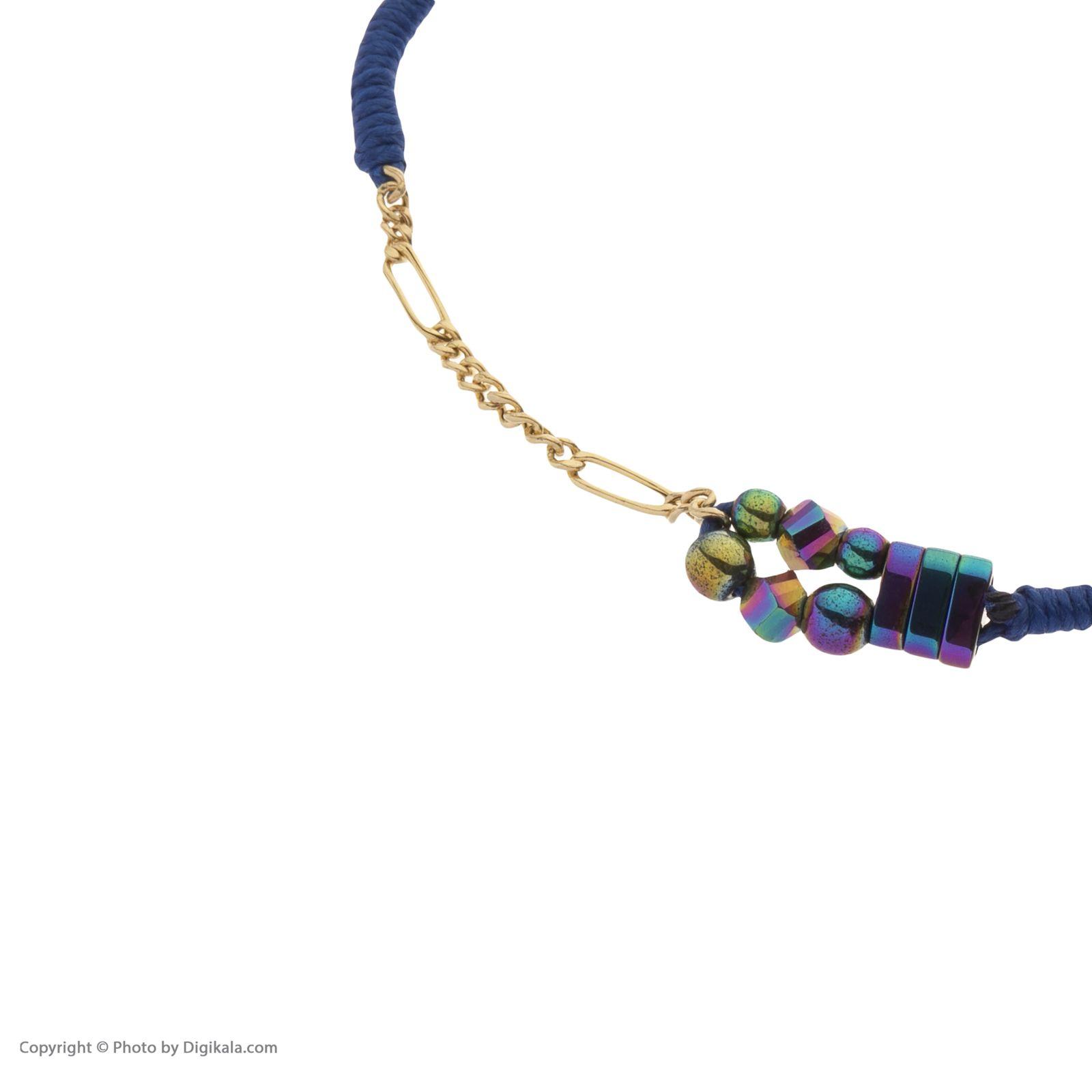 دستبند طلا زنانه سنجاق مدل x094287 -  - 4