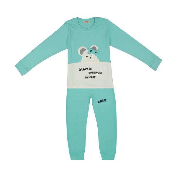 ست تی شرت و شلوار دخترانه مادر مدل 301-54
