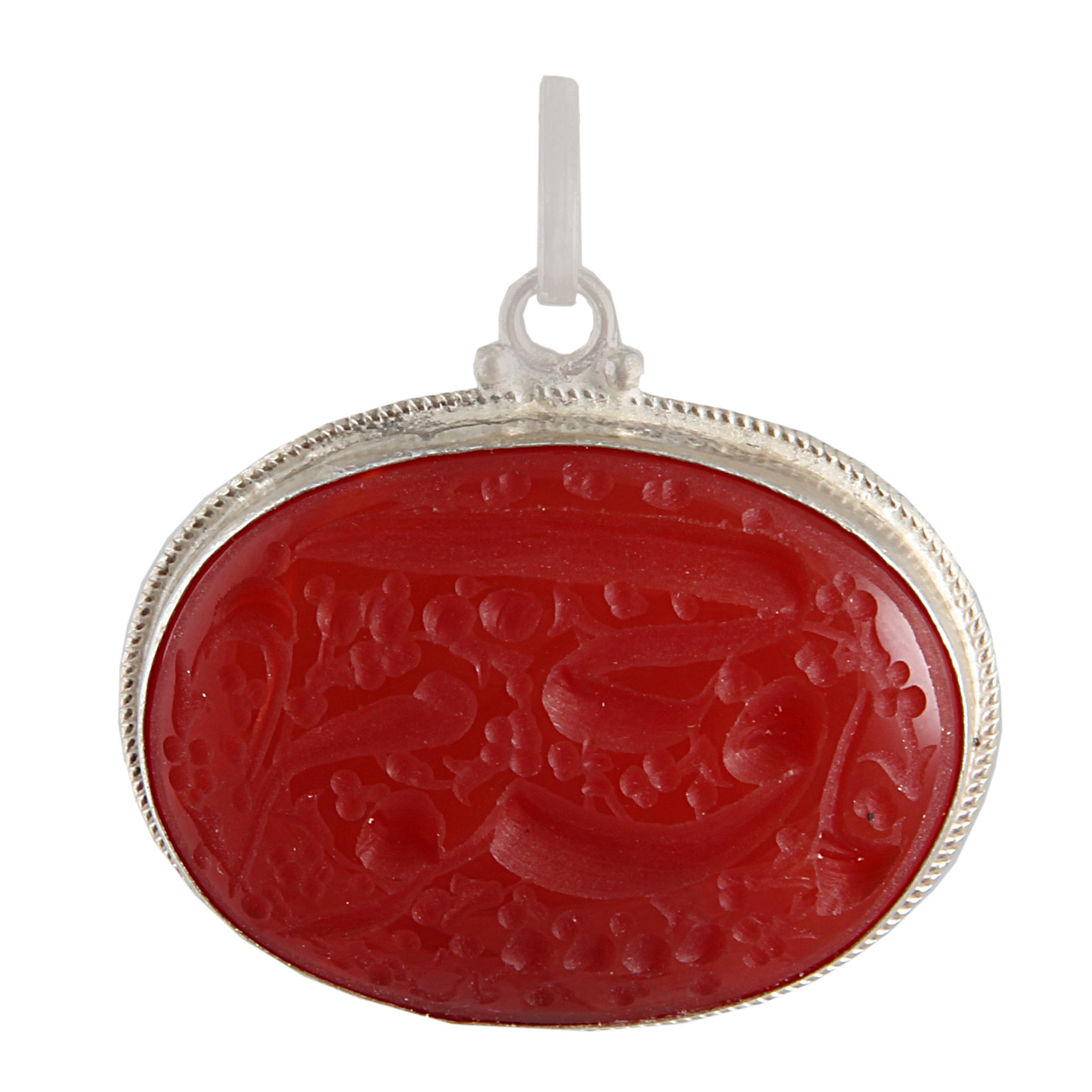 آویز گردنبند نقره زنانه بازرگانی میلادی کد PK_105