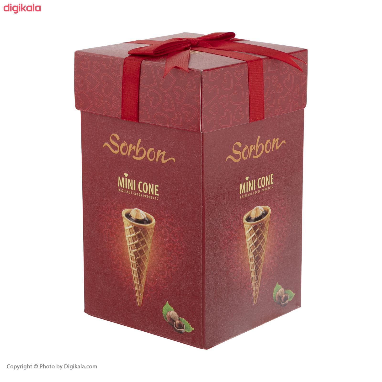 نان مخروطی کاکائویی سوربن - 200 گرم بسته 20 عددی  main 1 1