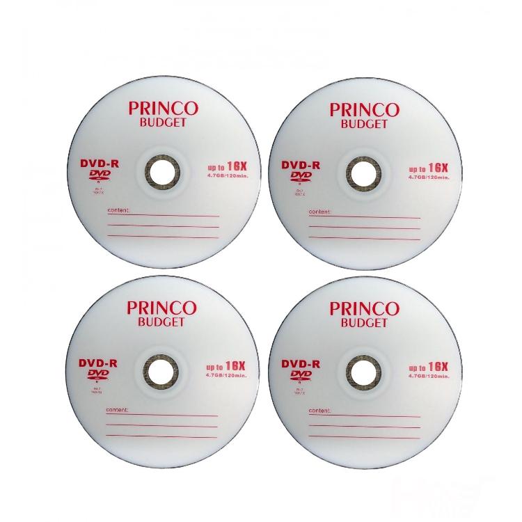 دی وی دی خام پرینکو مدل DVD-R بسته ۴ عددی