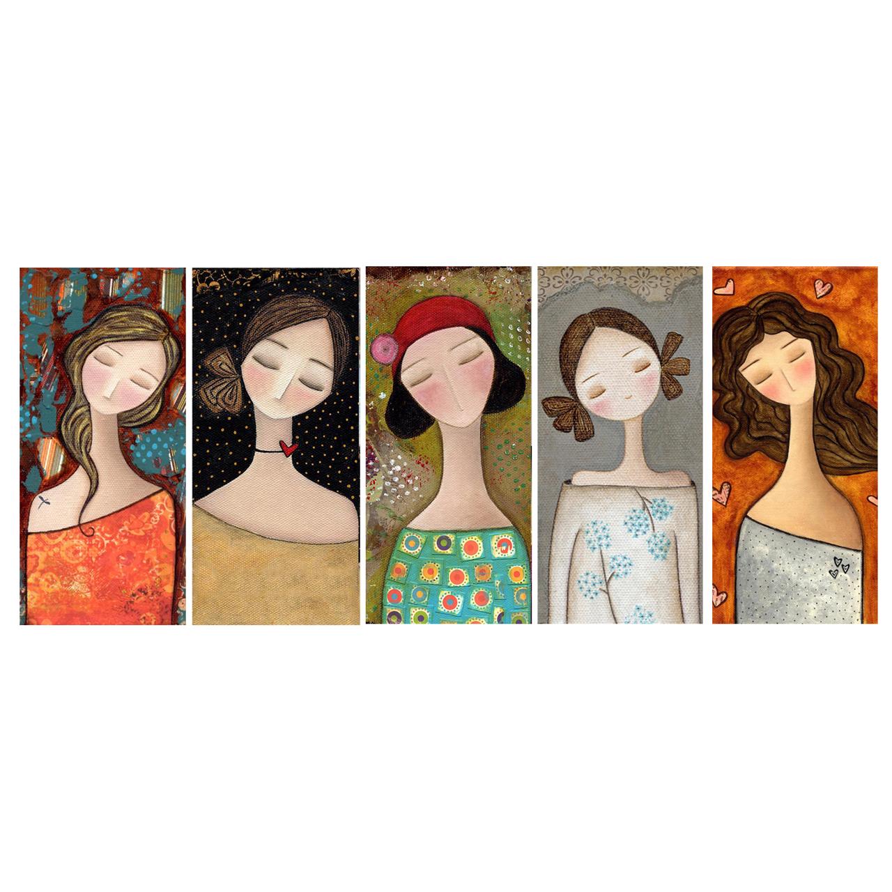 مگنت مدل دختران آفتاب کد 8 مجموعه 5 عددی