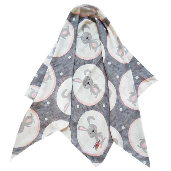 روسری دخترانه ترمه گالری مدل خرگوش کد san_022