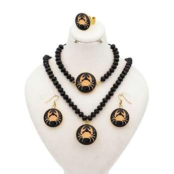 ست طلا 24 عیار  زنانه طرح نماد تیر کد 10004M