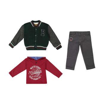 ست 3 تکه لباس پسرانه ببوش مدل 2141231-45