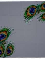 روسری زنانه 27 طرح پر طاووس کد H01 -  - 5