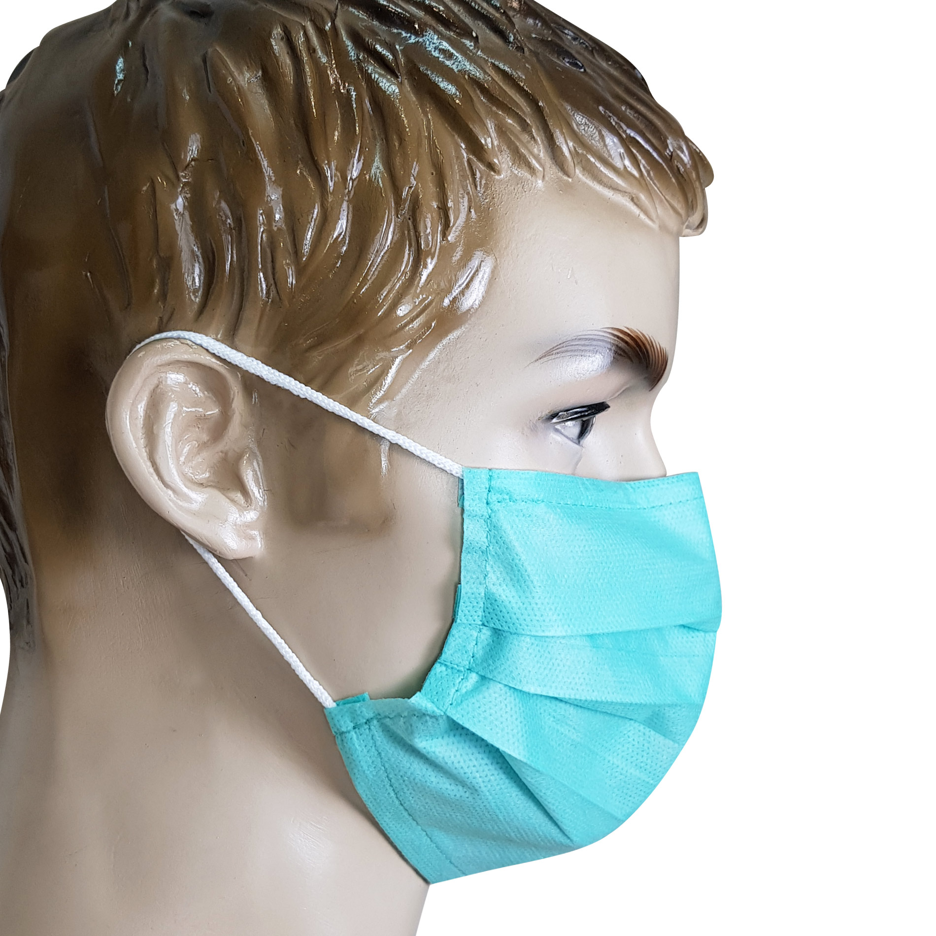 50 pcs Disposable protective mouth Mask 3 Ply Non woven pack,model ssmms