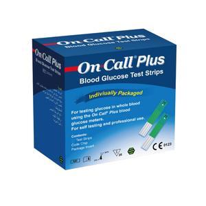 نوار تست قند خون مدل On Call Plus بسته 25 عددی
