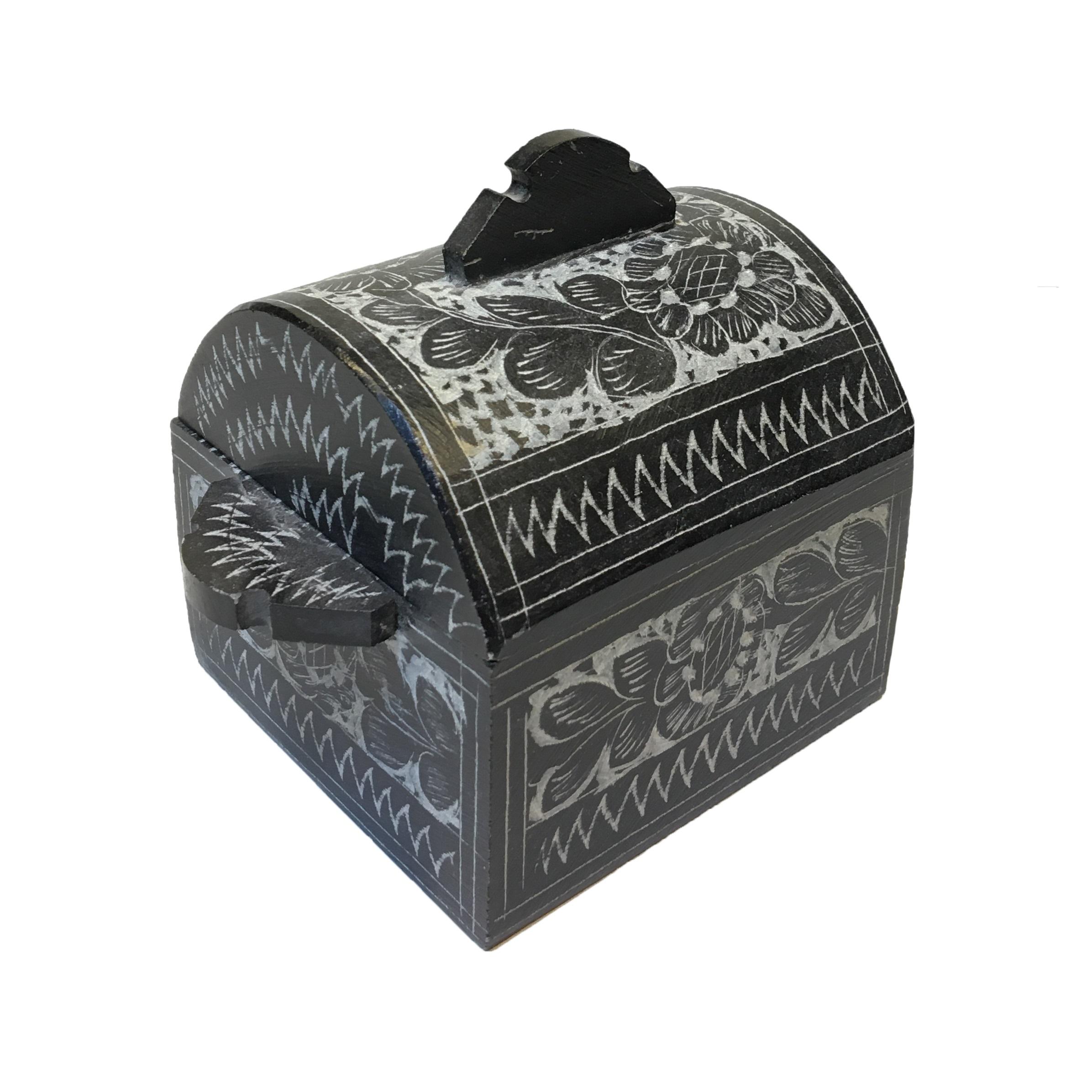 جعبه جواهر سنگی مدل گلسنگ کد 01