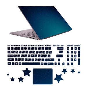 استیکر لپ تاپ صالسو آرت مدل 5075 hk به همراه برچسب حروف فارسی کیبورد