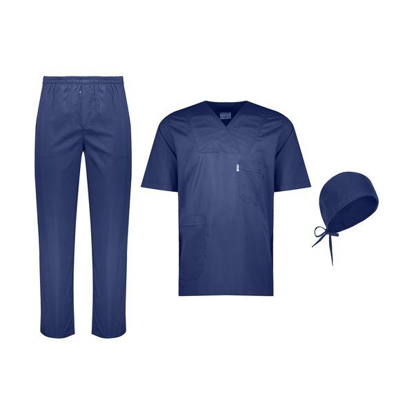 ست لباس اتاق عمل مردانه خضرا مدل اسکراب کد 38021