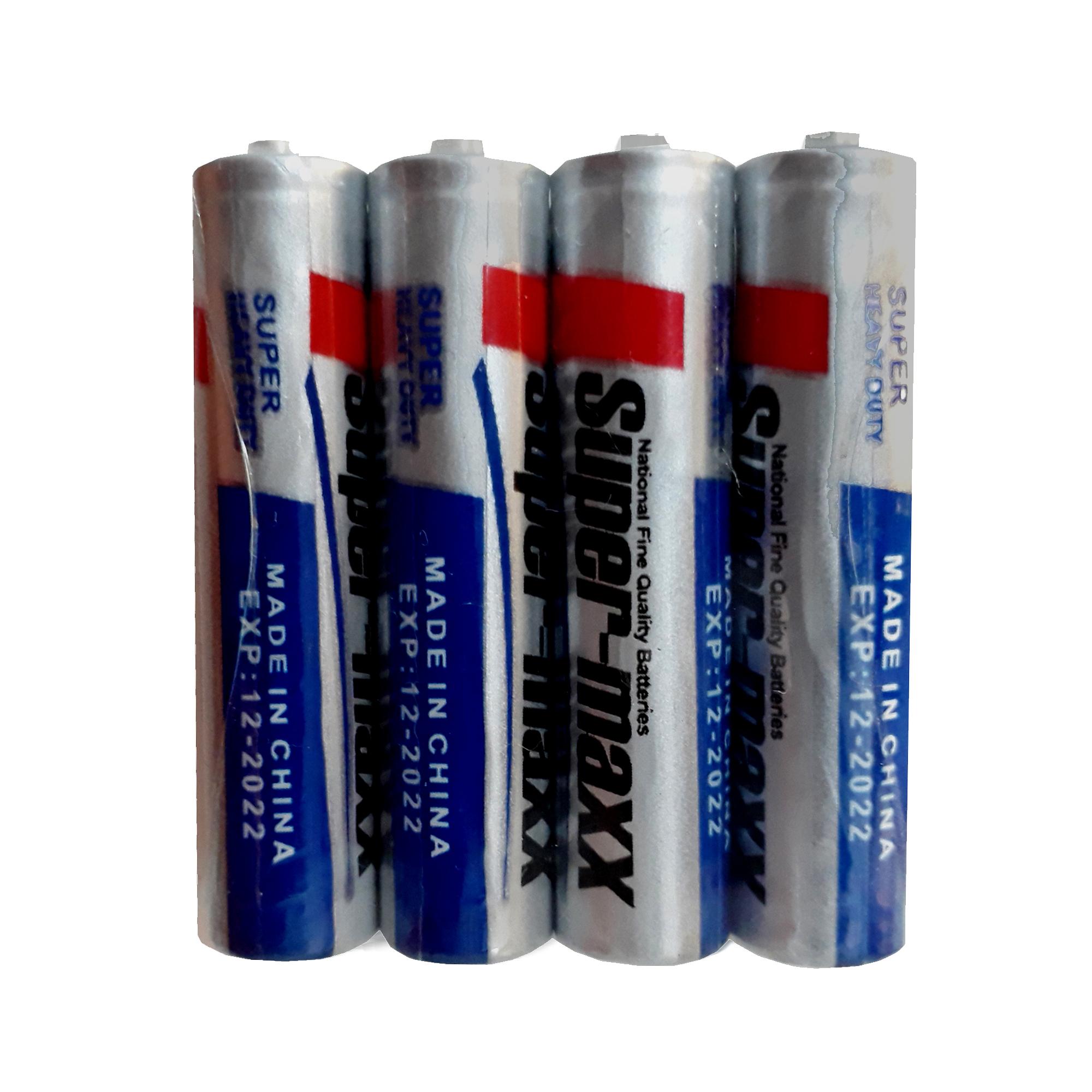 باتری نیم قلمی سوپر مکس کد 200 بسته ۴ عددی