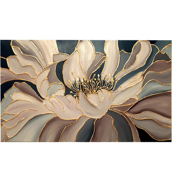 تابلو نقاشی ورق طلا طرح گل کد 0088