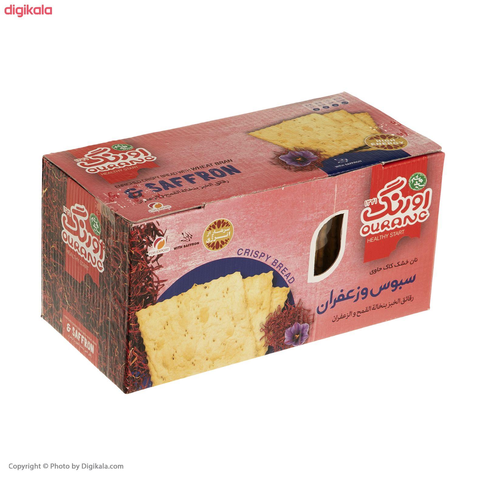 نان سنتی کاک سبوس دار زعفرانی اورنگ مقدار 400 گرم main 1 3