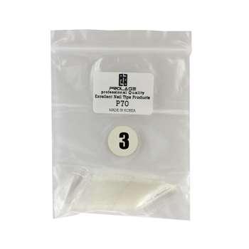 تیپ کاشت ناخن پرولایز شماره p70 - 3 بسته 50 عددی