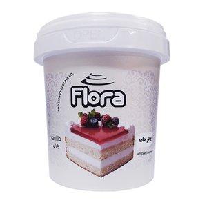 پودر خامه کیک و شیرینی با طعم وانیل فلورا - 200 گرم