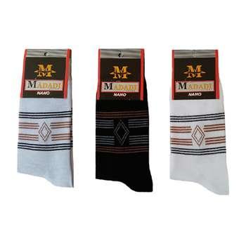 جوراب مردانه طرح  لوزی کد D6 مجموعه 3 عددی