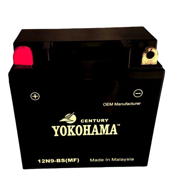 باتری موتورسیکلت یوکوهاما مدل 12N9-BS MF